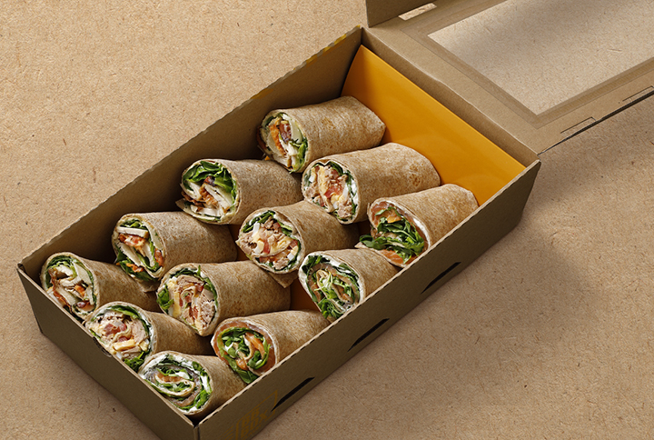 Wrap box (2x Caesar, 2x tuna, 2x salmon)